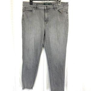RALPH LAUREN Skinny Raw Hem High Rise Jeans ~sz 14